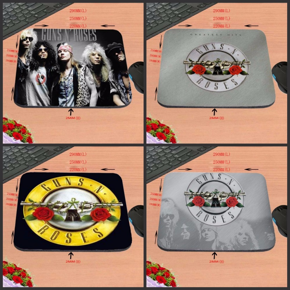 Guns Roses Hot Selling Top Quality Customized font b Gaming b font Durable Mouse Mat PC