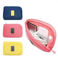 OLAGB Творческий противоударный путешествия цифровой USB зарядное устройство кабель Чехол для наушников Макияж Косметический Организатор