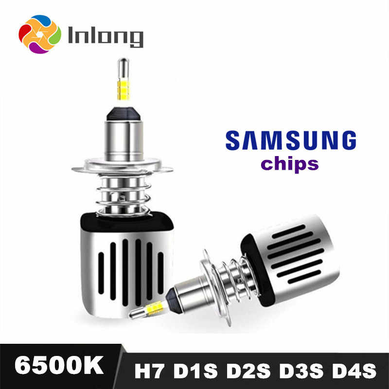 4 Sides SAMSUNG Chips H1 LED H7 Headlamp 11200LM D2S H4 H9 H11 9005 D3S D4S 9006 HB4 D1S Car Headlight Bulb 6500K Fog Lights 12V