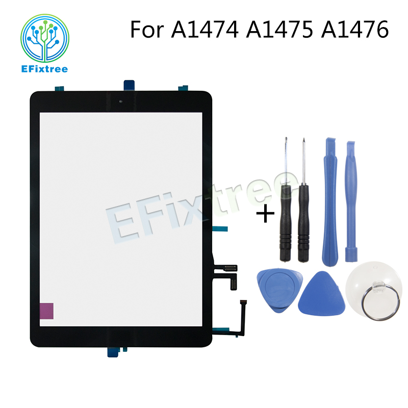 A1474 A1475 A1476 New touch panel display screen with Stickers For iPad Air A1474 A1475 A1476 Touch Screen Digitizer Outer Panel lcd screen display for ipad 5 lcd panel for ipad air a1474 a1475 a1476 tablet lcd panel screen panel replacement lcd display