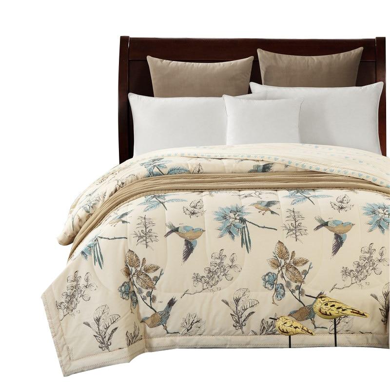 Svetanya Cotton Bedspread American Pastoral Bird print Throws ... : thin quilted bedspreads - Adamdwight.com