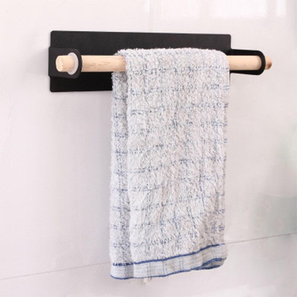 Constructief Pasta Dubbele Handdoekenrek Keuken Doekjes Kussen Badkamer Gratis Gat Haak Handdoek Bar Plank Handdoek Opknoping