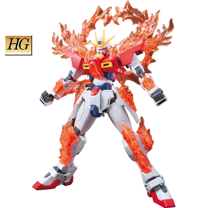 ФОТО Bandai 1:144 Build burning Gundam Customizable model Anime Puzzle assembled Robot boy Action Figure toy Arts collectibles gifts