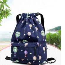 ФОТО fashion high quality women girls drawstring shoe dance bag schoolbag storage backpack