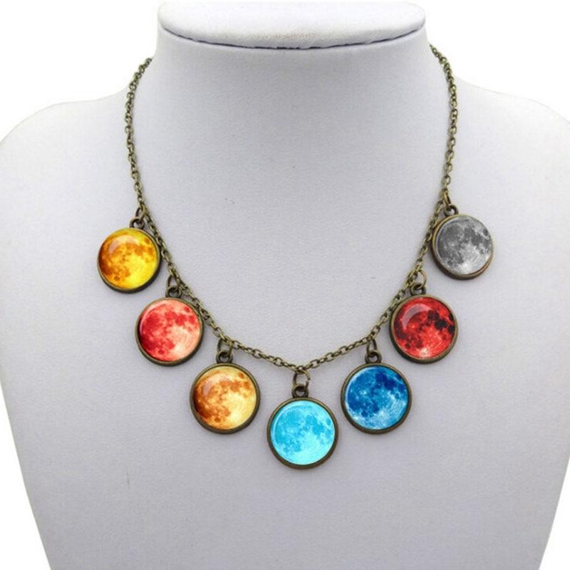 New Celestial Galaxy Cabochon Bracelet Retro Gifts Multi-layered Glass Weave