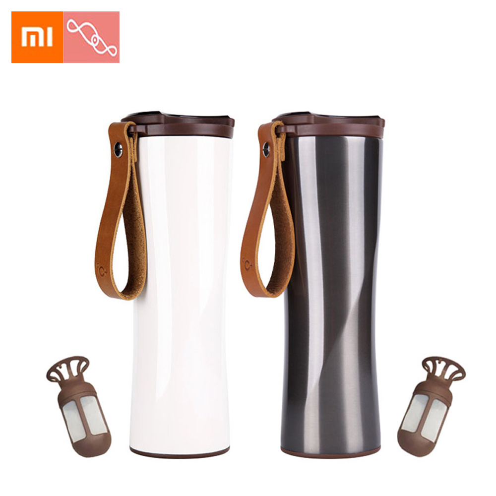 Xiaomi Mijia KissKissfish Smart Moka Coffee Thermos Travel Mug Touch OLED Screen Temperature Stainless Steel 430ML