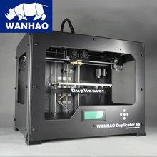 2016 модернизированный D4S двойной экструдер автоматического выравнивания высокая производительность и точность кормили 1.75 мм PLA нити WANHAO изготовлены