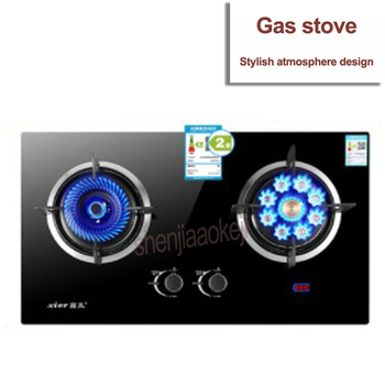 Gas stove liquefied gas embedded / desktop dual-use double-head stoves XB205Y Home energy-saving gas stove cooker 1pc