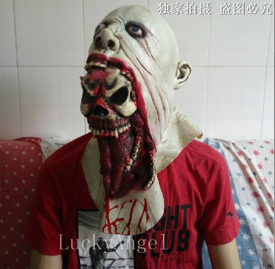 hot sale new horror demons head devour monster mask scary halloween masquerade masks adults latex mask in party diy decorations from home u0026 garden on