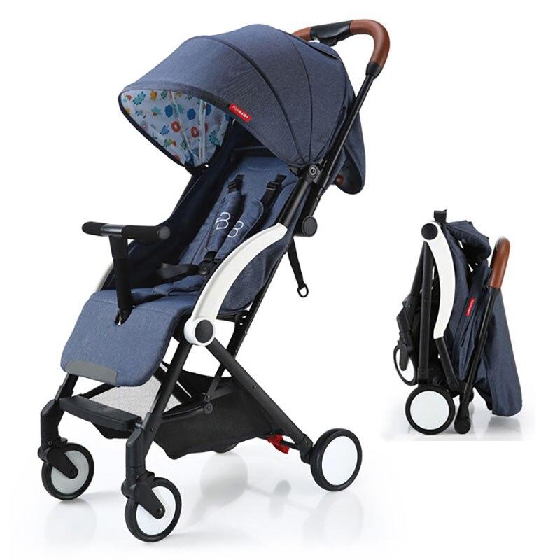 Poussette bébé système de voyage landau pliable léger pour les nouveau-nés tringle à tirer chariot marcheur landau poussette