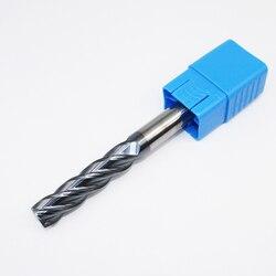 1 sztuk HRC50 14mm frezy z węglika spiekanego D14X45LXD14X150L 4 flet standardowa długość frezowanie boczne dłutowanie profilowanie twarzy młyn