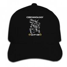 Impresión gorra de béisbol personalizada CZ EE. UU. 2 CESKA ZBROJOVKA  logotipo P 09 arma pistola hombres sombrero negro alcanzó . 7706e615787