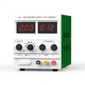 Регулируемый источник питания 15 В, 2 а постоянного тока, мобильный телефон, тест на ремонт, светодиодный дисплей, детектор сигнала