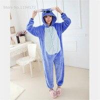 Blue Stitch Onesies Pajamas Cartoon Animal Cosplay Pyjamas Adult Onesies Costume Party Dress Halloween Pijamas