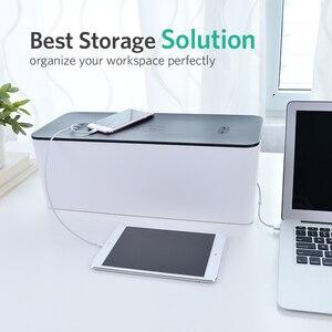 Image 5 - Ugreen Thuis Elektronische Accessoires Kabel Organizer Box Voor Power Strip Opslag Usb Charger Cable Management Hoge Capaciteit Doos