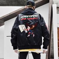 Summer Military Bomber Jacket for Men Baseball Uniform Casual Varsity Bomber Men Jacket Hip Hop Punk Mont Raglan Streetwear 5J02