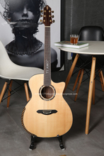 Professional Guitar,41 Cutaway guitar with Solid SITKA SPRUCE Top/ Colorful butterfly wood Body,TA-GA110A