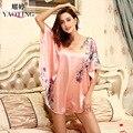 women summer floral pink robes