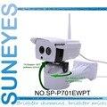 Suneyes sp-p701ewpt 720 p hd pan/tilt de rotación ip66 resistente a la intemperie cámara ip inalámbrica al aire libre con p2p ranura sd micro teléfono vista