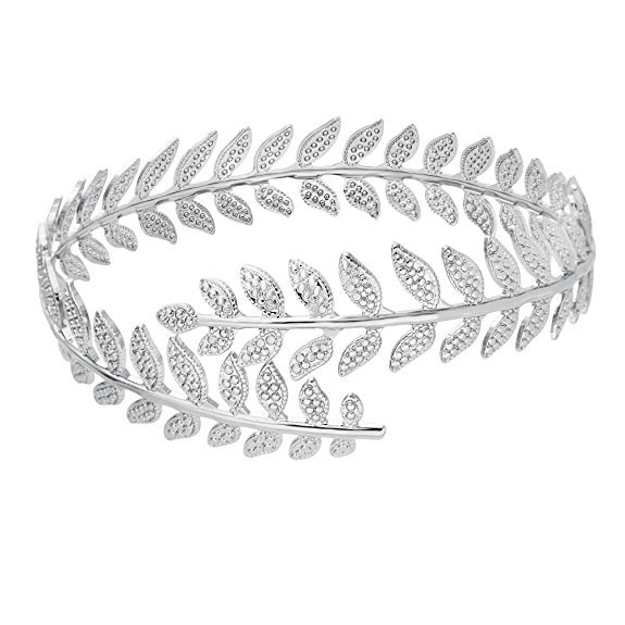 2017 New Arrivals Leaf Bracelet Fashion Three Colors Swire Leaf Upper Arm Bracelet Armlet Cuff Bangle Bridesmaid Gift