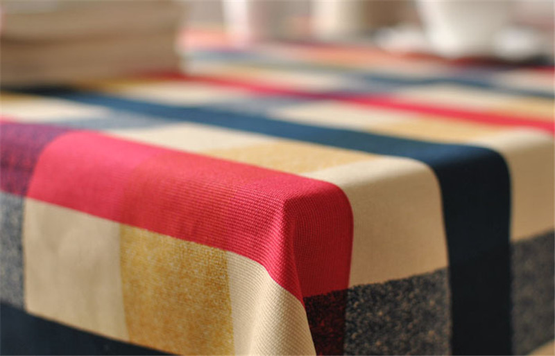 fde6c54c9f05a BZ313 Mediterranean plaid cotton table cloth fresh leaf flower fashion home  hotel drape factory outlets American country style-in Tablecloths from Home  ...
