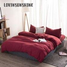 LOVINSUNSHINE Bedding Sheet Sets Comforter Queen 4pcs Solid Color Cover AB#114