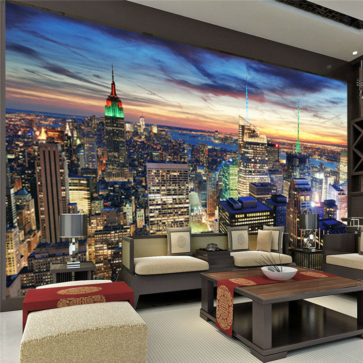 Aliexpresscom Buy Modern Custom Large Photo Wallpaper New York