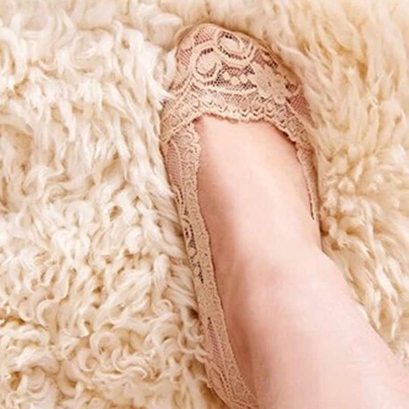 Moda mujer corte calcetines de mujer antideslizante Invisible Liner Low Summer popsocket calcetines mujer algodón Sexy encaje calcetines # YL5