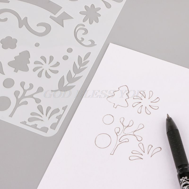 24PCS Drawing Template Stencils Journal Notebook Diary Scrapbooking A5 DIY  Stationery DIY Stencil School Supplies