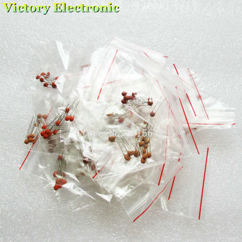 300PCS Ceramic capacitor 2PF 0 1UF 30 valuesX10pcs 300pcs Electronic Components Package ceramic capacitor Assorted Kit