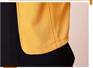 Image 3 - 여성 블레이저 2018 플러스 사이즈 l ~ 4xl 5xl 아웃웨어 캐주얼 슬림 숏 레이디 블레이저 코트 브로치와 자켓 chaqueta mujer jaqueta
