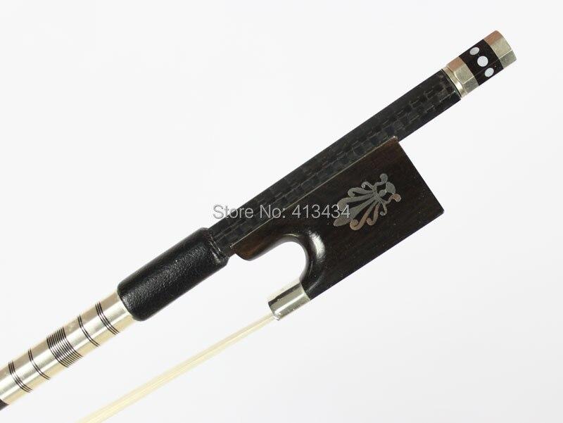 Топ модель серебряный Плетеный углеродного волокна 4/4 Скрипка Лук