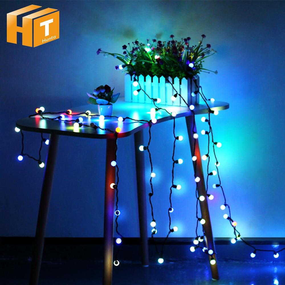 Small Ball LED String Light RGB Changeable Holiday Lighting AC220V 4M 40LED / 10M 100LED Christmas Decoration Fairy Lights