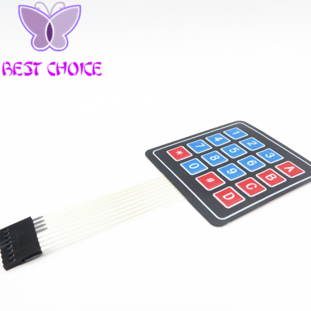 10pcs/lot 4*4 Matrix Array/matrix Keyboard 16 Key Membrane Switch Keypad For Arduino 4x4 Matrix Keyboard To Be Highly Praised And Appreciated By The Consuming Public Active Components