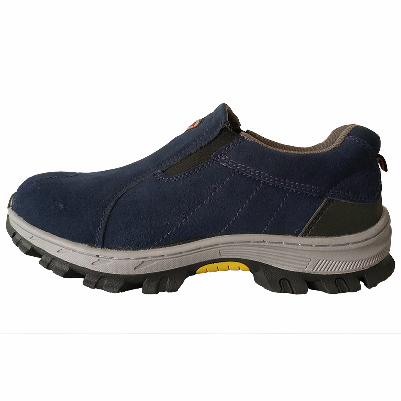 big size mens fashion steel toe caps working safety shoes slip on platform anti puncture cow suede leather factory site boots-in Work & Safety Boots from Shoes    3
