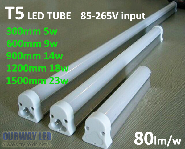 <font><b>T5</b></font> Integrated Tube 5W 9W 14W <font><b>18W</b></font> 23W 30/60/90/120/150cm Energy Saving <font><b>LED</b></font> Tube Fluorescent light AC85-265V image