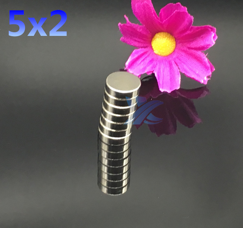 100pcs 5mm X 2mm Strong Round Cylinder 5x2 Neodymium Industrial Magnet 5*2  Art Craft Connection free shipping 2 pcs new 44mm cylinder