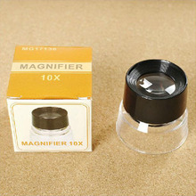 55x40mm Portable Magnification 10X Magnifying Glass Magnifiers Microscope
