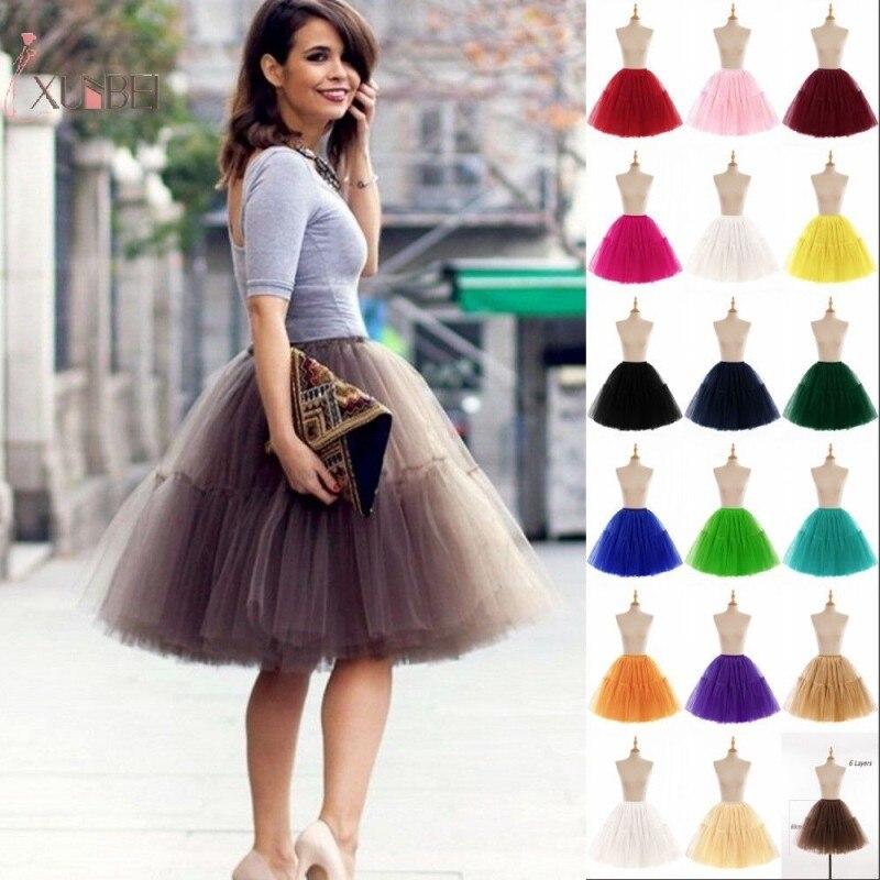 """26"""" Vintage Wedding Petticoat 50s Retro Underskirt Swing Rockabilly Fancy Net Tutu Skirt"""