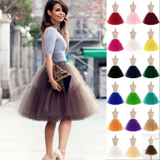 "26"" Vintage Wedding Petticoat Crinoline 50s Retro Underskirt Swing Rockabilly Fancy Net Tutu Skirt Bridal Accessories 2020"