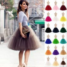 HOT SALE 6 Layers Women Tulle Adult Tutu Skirt Summer Flare Puffy Petticoat Princess Ballet Party Prom Gown Wedding Accessories