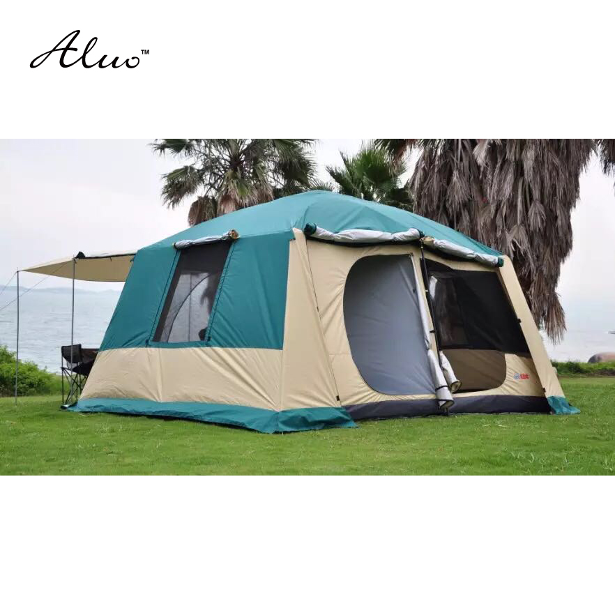 8-10 person 4*3*2.17 meter 3 rooms Large military tents outdoor camping tent waterproof 5000PU beach tent for Family outings цена и фото