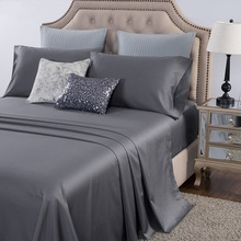 PHF 400 Thread Count Bed Sheet Set 4 Pieces Flat Sheet+fitted sheet+pillowcase Luxury Bedclothes Cotton Sateen Weave Queen King