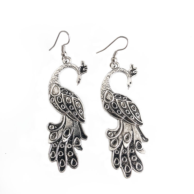 Drop Earrings Jewelry & Accessories Southeast Nepal Hand Set Zircon Retro Tassels Earrings Boho Hippies Of Ancient Silver Make Old Exaggerated Earrings