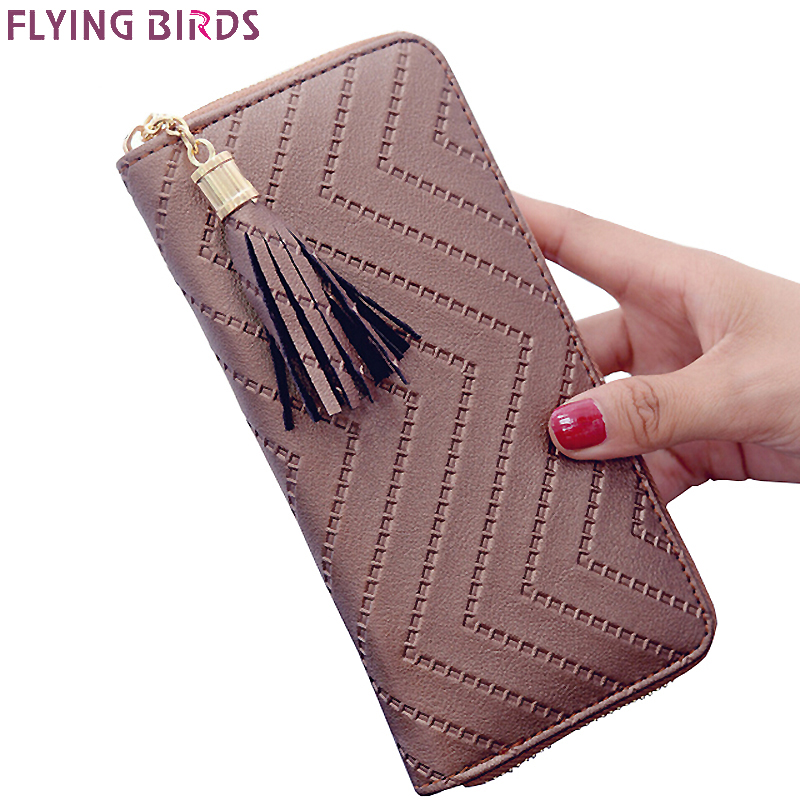Flying birds women wallet leather purse dollar price high quality clutch leather purses card bag female pouch coin bag LM4113fb flying birds 2016 wallet leather purse dollar price men bags wallets card holder coin purses short wallet men s bag lm3421fb