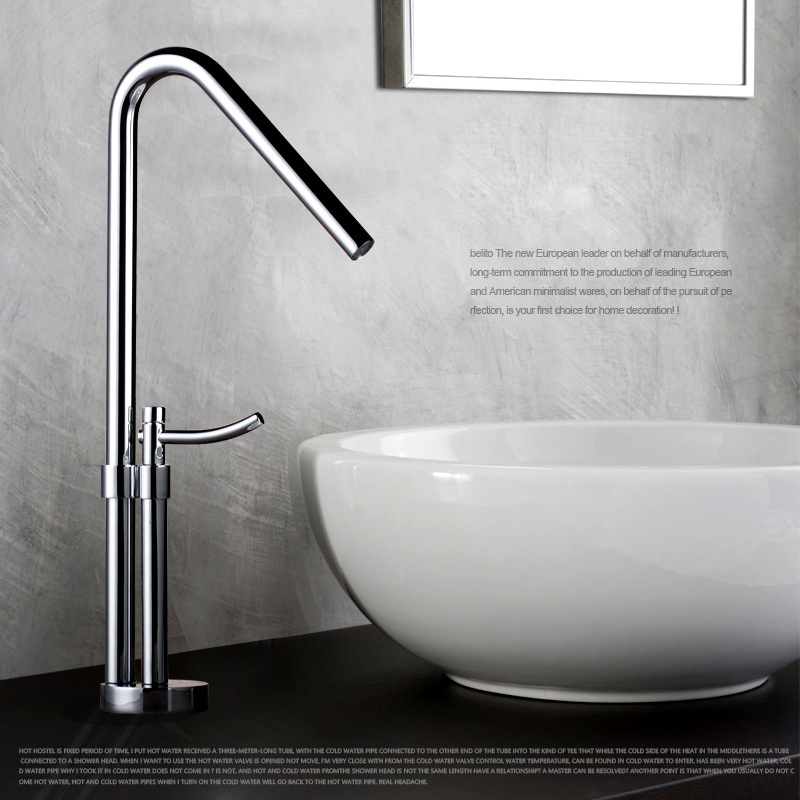 Table Basin Leader 360 Rotating Copper Hot And Cold Basin Faucets Tall  European Faucet Bathroom Sink Amazing Ideas
