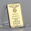 Business Gift For 999 Real Gold Plated Bar Deutsche Reichsbank Gold Bar German Iron Ingot Bar OZ Eagle Cross Collectable cheap Metal 2000-Present Modern Patriotism Europe