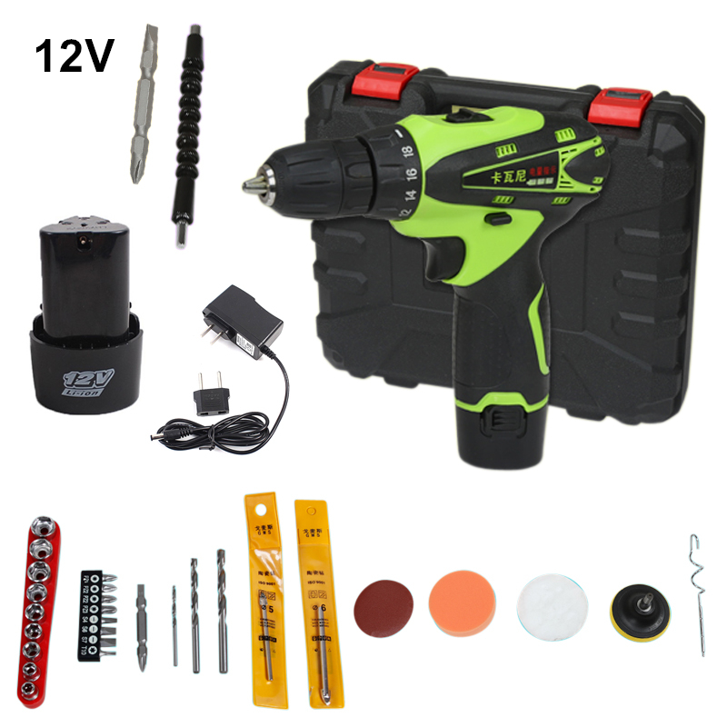12v Cordless Screwdriver Rechargeable Drill Mini Electric Drill Two Lithium Battery Plus Parts Parafusadeira Furadeira Tools mini small cordless electric rechargeable screwdriver 4 8v 180rpm 20pcs screwdriver bits 3pcs drill for home use diy tools