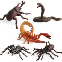 Simulation Cobra/Mantis/Spider Figure Collectible Toys Solid Insect Animal  Soft Rubber Toys