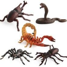 Simulação Cobra/Mantis/Inseto Aranha Figura Brinquedos Colecionáveis Sólida Animal Macio Brinquedos De Borracha
